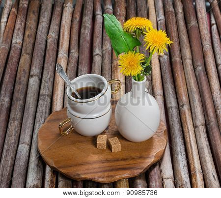 Cup Of Coffee, Dandelions