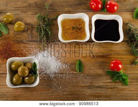 Olive Oil, Balsamic Vinegar