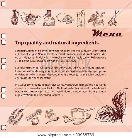 Menu ingredients
