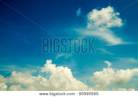 light blue sky and white cloud