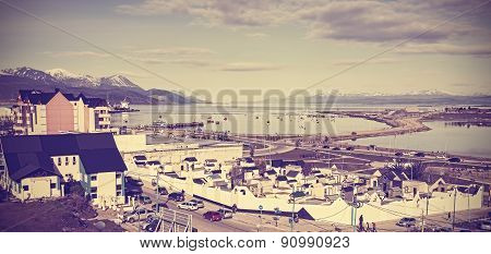 Retro Vintage Filtered Picture Of Ushuaia.