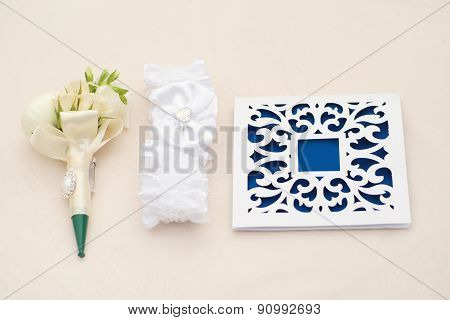 Beautiful Wedding Invitations And Boutonniere