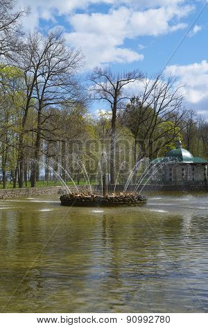 Fountain in Peterhof, Russia