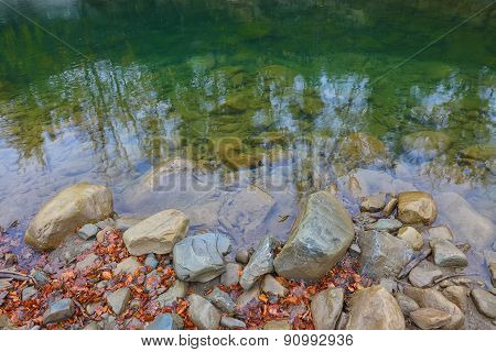 Rocky Shore Of The Lake