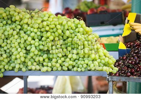 Grapes On Market