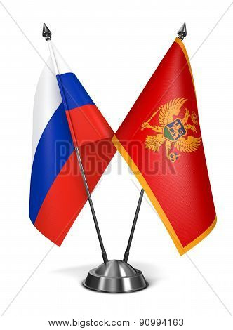 Russia and Montenegro - Miniature Flags.