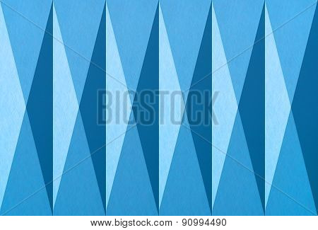 Geometric Print On Paper Texture - Blue Graphic Background