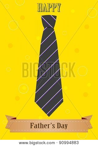 Father's Day abstract retro vintage background with tie and ribbon. Vector design