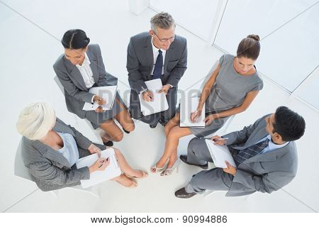 Business people in board room meeting at the office