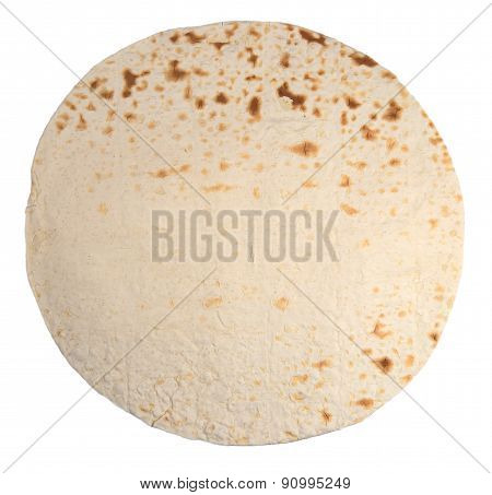 Pita Bread On A White