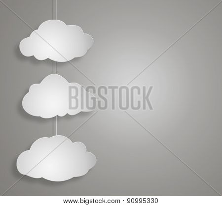 Concept Cloud On Greybackground
