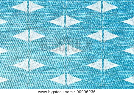 Geometric Print On Jeans Texture - Graphic Background