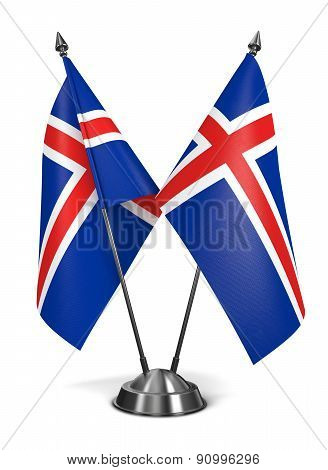 Iceland - Miniature Flags.