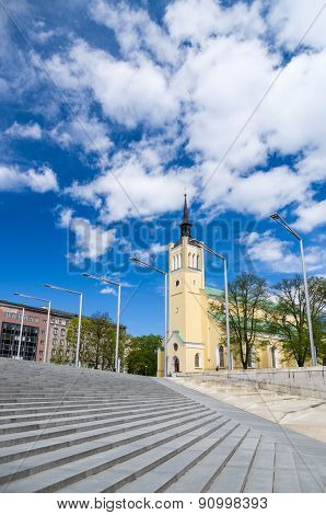 St. John's Church On Freedom Square Of Tallinn, Estonia