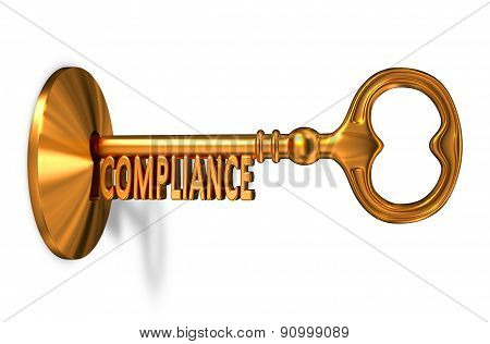 Compliance - Golden Key is Inserted into the Keyhole.