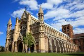 pic of church-of-england  - St Albans Cathedral in St Albans - JPG
