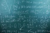 picture of math  - Maths formulas on chalkboard background - JPG