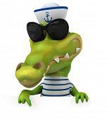 image of crocodiles  - Fun crocodile - JPG