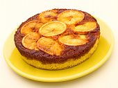 pic of upside  - close up of orange upside down cake - JPG