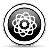 stock photo of atomizer  - atom icon - JPG