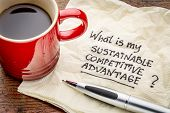 image of handwriting  - What is my sustainable competitive advantage question  - JPG