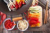 foto of chinese wok  - asian food - JPG