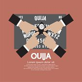 picture of ouija  - Ouija Board Playing Vector Illustration - JPG