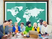 foto of globalization  - World Global Business Cartography Globalization International Concept - JPG