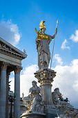 pic of goddess  - Parliament building in Vienna - JPG