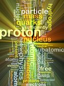 pic of proton  - Background concept wordcloud illustration of proton glowing light - JPG