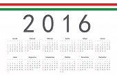 picture of hungarian  - Simple Hungarian 2016 year vector calendar - JPG