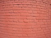 pic of fragmentation  - A fragment of a brick wall painted with wide angle fisheye lens view - JPG