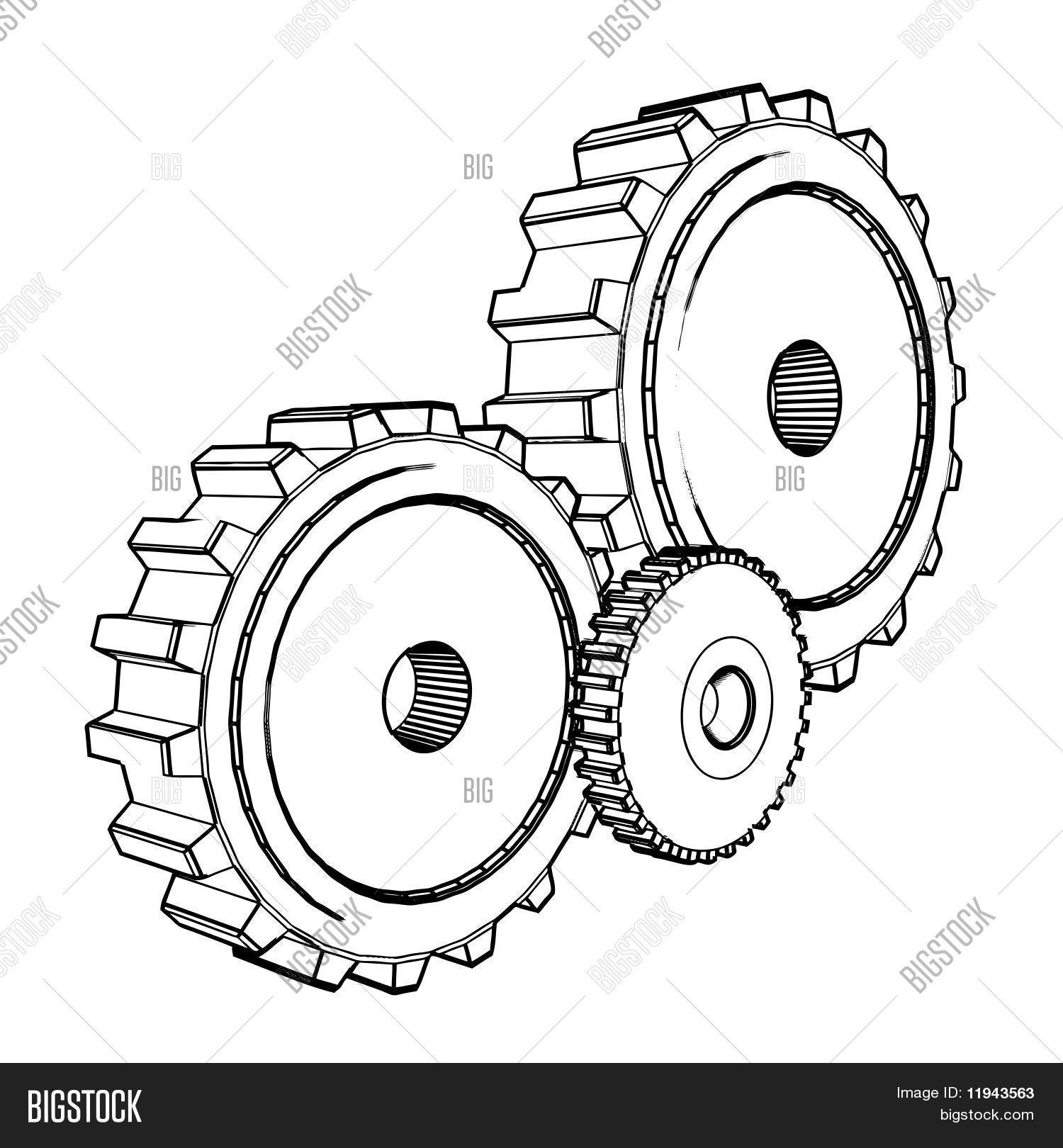 3d technische tekening van vector en foto bigstock for 3d schets maken