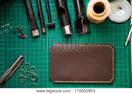 Tools For Genuine Leather Crafting With Cellphone Cover Case