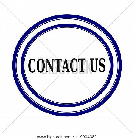Contact Us Black Stamp Text On White Backgroud