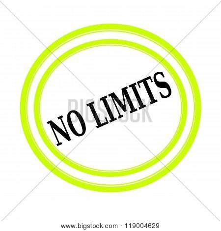 No Limits Black Stamp Text On White
