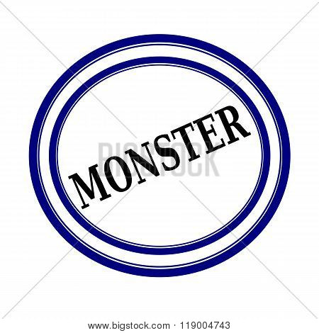 Monster Black Stamp Text On White