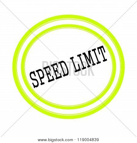 Speed Limit Black Stamp Text On White