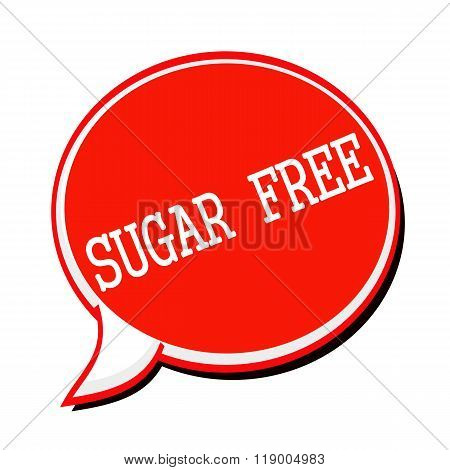 Sugar Free White Stamp Text On Red Speech Bubble