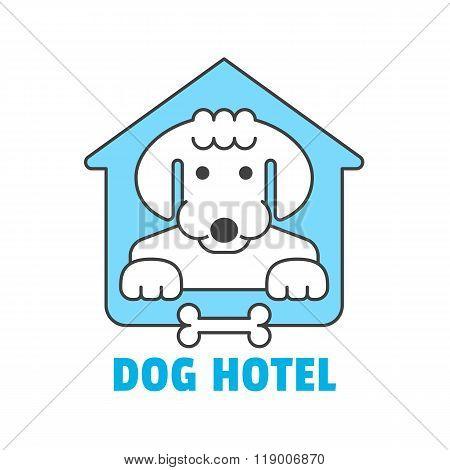 Dog hotel logo template