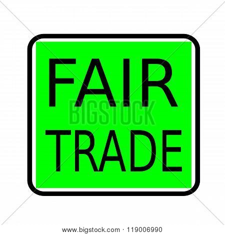 Fair Trade Black Stamp Text On Green Background