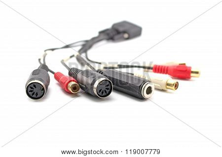 Midi Coaxial Cable, Isolated On White