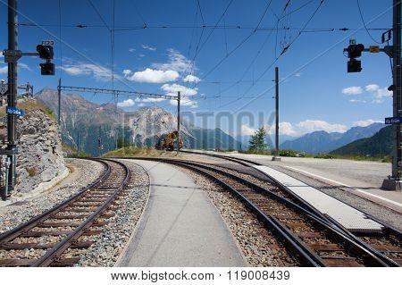 Alp Grum Railway Station, Switzerland