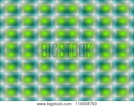 Abstract green turquoise spotted diagonally pattern