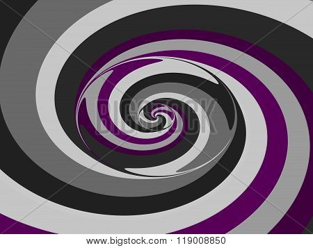 Abstract spiral pink purple gray white black pattern usable as background for visiting and business