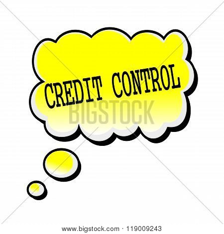 Credit Control Black Stamp Text On Yellow Speech Bubble