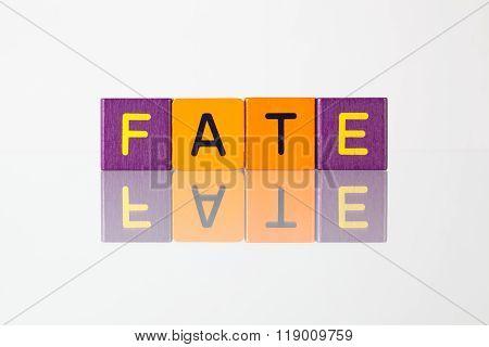 Fate - An Inscription From Children's Blocks