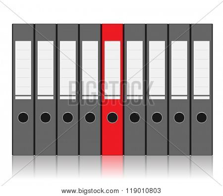 Folder to Store Files isolated on white background. illustration.