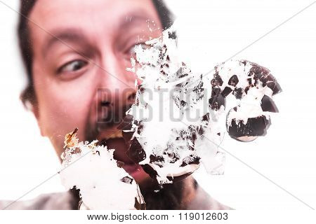 Man With Smashed Chocolate Marshmallow