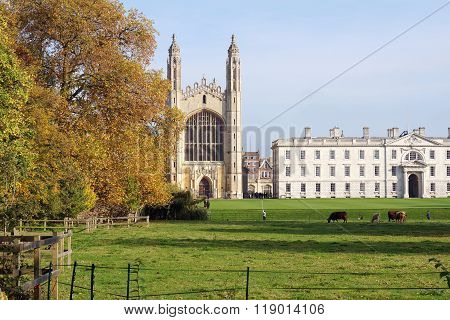 Autumnal View Of King's College Chapel, Cambridge, England